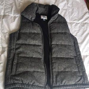 Old Navy Herringbone Fleece Puffer Vest